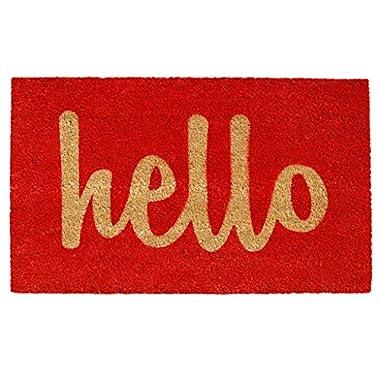 Calloway Mills Home & More 100301729RNS Hello Doormat, 1'5  x 2'5