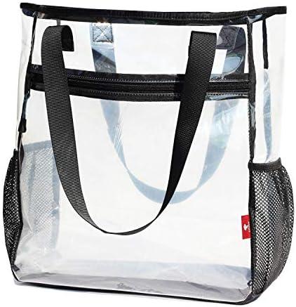 Large Clear Tote Bags Heavy duty Shoulder Bag Transparent Handbag Travel Beach Work Gym Stadium product image
