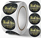 YKHENGTU Thank You for Your Order Business Stickers,Foil Letters,500PCS 1inch Thank You Stickers,Round Seal Labels for Bubble Envelopes,Paper Bags,Gift Bags