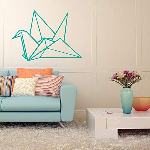 H421ld Adhesivo decorativo para pared, diseño de grúa de origami, estilo moderno, minimalista, geométrico