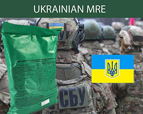 MRE - Ready to Eat Complete Meals Genuine UKRAINIAN MRE (Breakfast, Lunch and Dinner) Russian MRE? 2kg - 4.4lbs