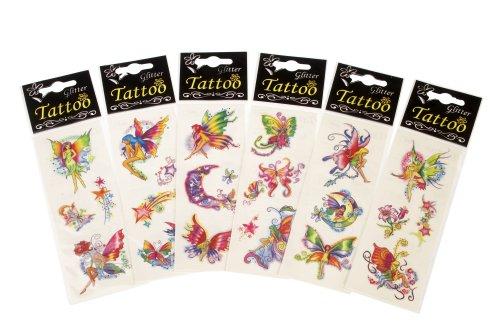 PLAYWRITE 12 paquets de Fée paillettes tatouages