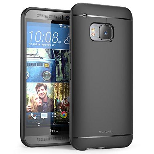 HTC One M9 Case, SUPCASE Premium Ultra Slim Fit SoftGel Flexible TPU Case for HTC One M9 (2015 Release), Black