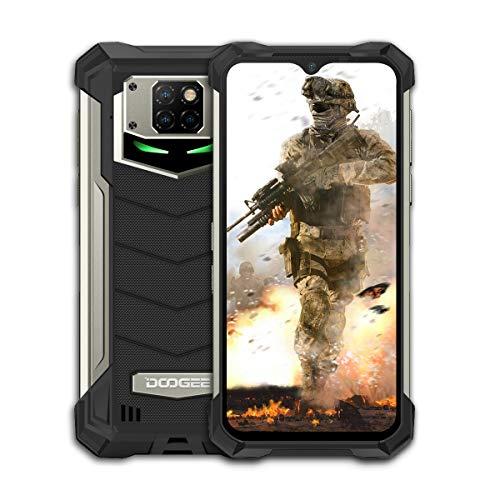 Doogee S88 Pro - Smartphone libre (128 GB + 6 GB, pantalla de 6,3 pulgadas, doble nano SIM, 9400 mAh, Android 10.0, color negro