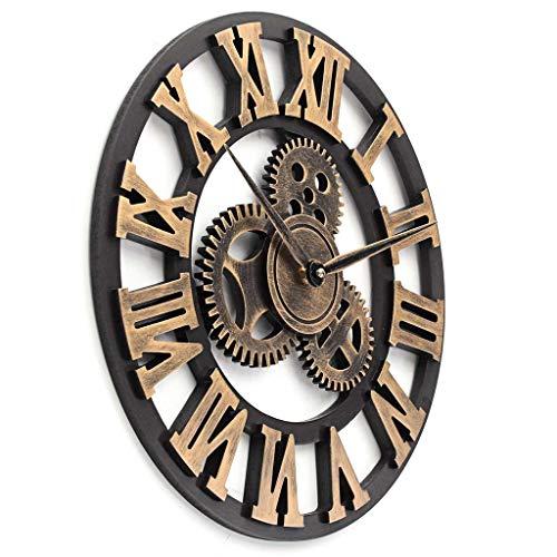 YJSMXYD Reloj De Pared Retro Vintage Hecho A Mano Grande De Madera Rel