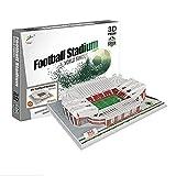 Georgie Porgy 3D Estadio de Fútbol Puzzles Juguetes de Construcción Conjuntos (Estadio Old Trafford 131pcs)