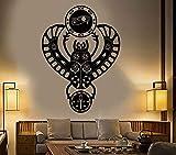 jiuyaomai Vinilo Apliques de Pared Egipto Antiguo Egipcio Escarabajo Escarabajo Ojo Horus Art Sticker decoración para el hogar Dormitorio Dormitorio Etiqueta de la Pared 57x78 cm