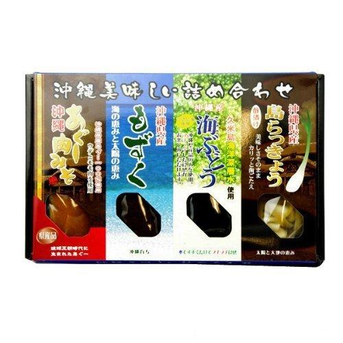 沖縄美味しい詰め合わせ (あぐー肉みそ・もずく・海ぶどう・島らっきょう酢漬け)×3パック 大幸商事 沖縄の特産品の詰め合わせ
