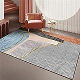 alfombras habitacion Matrimonio Sala de Estar Habitación para niños Alfombra Gris Naranja Azul Sucio Alfombra Salon Tatami 200X250CM 6ft 6.7