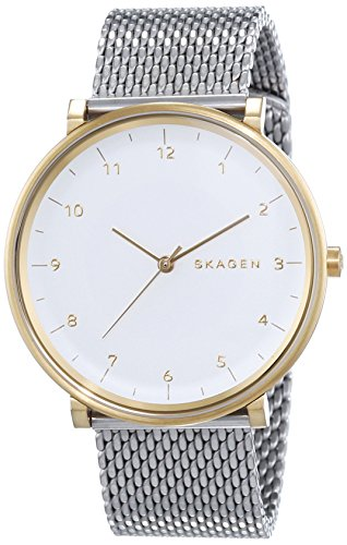 Skagen Herren-Armbanduhr XL Analog Quarz Edelstahl SKW6170