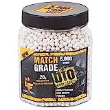 GameFace 20GBW5J Match Grade .20-Gram White Airsoft BBs (5000-Count)