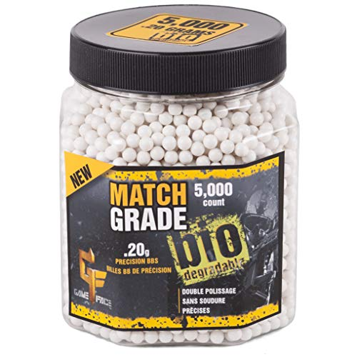 GameFace 20GBW5J Match Grade .20-Gram White Airsoft BBs (5000-Count)