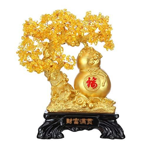 CZXKJ Árbol del Dinero Bonsai Feng Shui Citrino Feng Shui Adornos de...