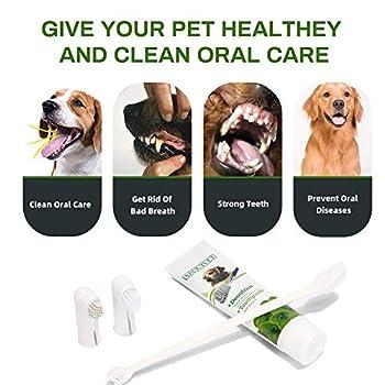 Dentifrice pour Chien, Pet Toothpaste, Soins dentaires pour Chiens, Améliore l'hygiène Buccale, Prévient Les Maladies des Gencives et la Plaque Dentaire, Nettoyage Naturel et Efficace des Dents