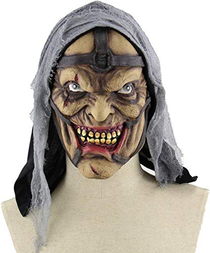 S$S Halloween Clown Maske Maskerade-Ball-Party verkleiden Props Grün Haar Clown Scary Clown Schlechte gruselige Horror Teufel-Schablonen-Maske
