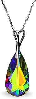 Spark(スパーク) スワロフスキー社製 クリスタル シルバー 925 ティアドロップ ネックレス 公式タグ付き ヴィトレールミディアム N610024VM