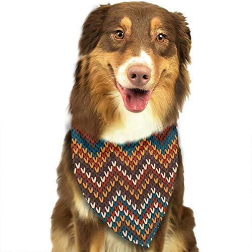 Sitear Geometrische Naadloos Multi kleuren Gebreid Patroon Hond Kat Bandana Driehoek Bibs Sjaal Huisdier Kerchief Halsdoek Set Voor Kleine Tot Grote Hond Katten Aangepast