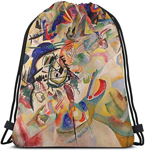 KINGAM Gimnasio Tote Bags Mochila con cordón Sport Gym Sackpack