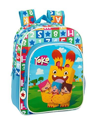 Yoko - Zaino scolastico per bambini, motivo animato, 260 x 110 x 340 mm