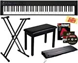 Korg D1 Digital Piano Bundle with Furniture Bench, Adjustable Stand, Dust Cover, Instructional Book, Online Lessons, Austin Bazaar Instructional DVD,...