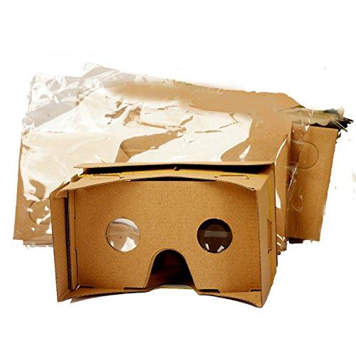 5 Paar Die VR-Gläser Virtual Reality Box 3D Carton Google Pappe DIY Video-Film-Game-Viewer Brille mit einstellbar.