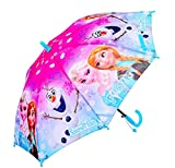 Kid's Cartoon Umbrella Girl's Umbrellas Brolly Sun Rain (blue elsa)