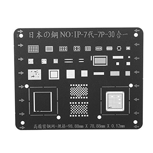 KUNSE Japan Steel Telefoon Logic Board Bga Reparatie Stencil Iphone 7 7P Moederbord Ic Chip Ball Solderen