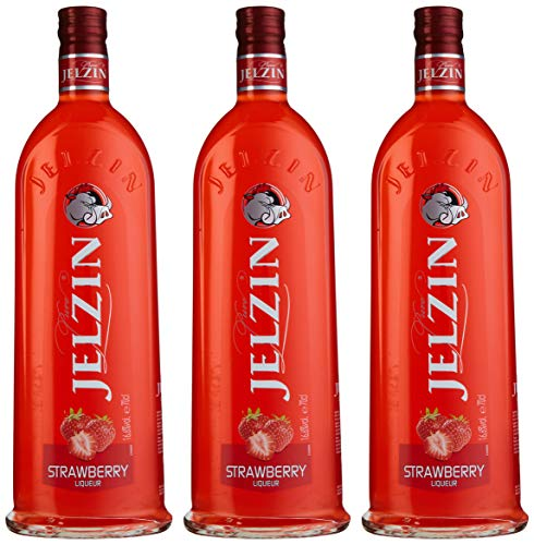 Jelzin Vodka Erdbeer Likör (3 x 0.7 l)