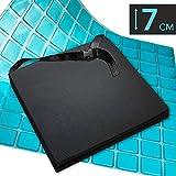 AIESI® Cuscino Antidecubito Professionale (Certificato) Memory in poliuretano espanso con cuscinetto interno in gel viscoelastico e cinghia cm 44x44x7h # Cuscino per sedia a rotelle auto sedia ufficio