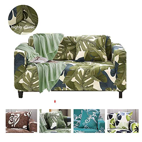 Urijk Funda de sofá de 1,2,3,4 plazas Cubierta de sofá elástico de Punto Protector de Sofá
