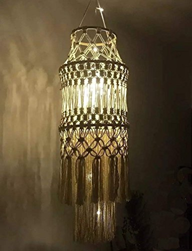 Macrame Fringed Lamp Shade Home Décor Handmade,9.8