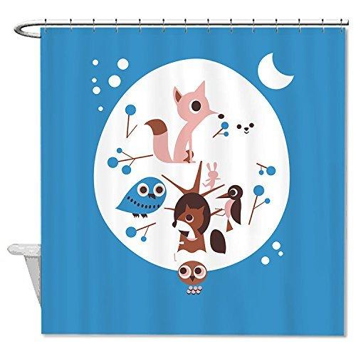 Rioengnakg Duschvorhang aus Polyester, schimmelresistent, Weißer Fuchs & Prinzessin, Duschvorhang, Polyester, 1, 66