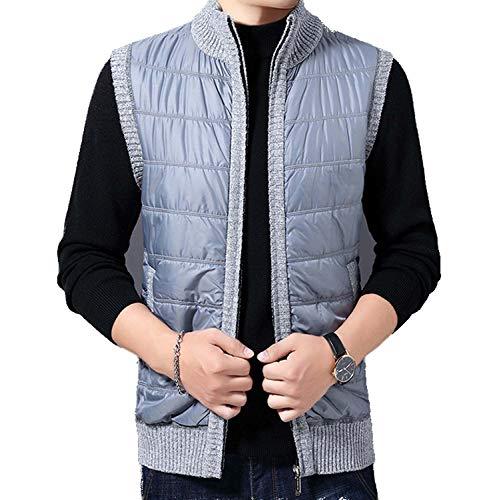 GL SUIT Heren Gilet Stand Kraag Mouwloos Vest Knitwear Klassieke Herenvesten Gebreide Taillejas Sweater Fleece Liner Tank Tops met Volledige Rits