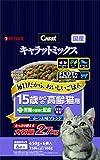 キャラットミックス 15歳からの高齢猫用+腎臓の健康に配慮 かつお味ブレンド 2.7kg(小分け6パック入/袋)