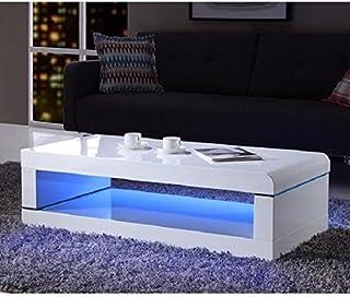 Table Basse Rectangulaire Blanc Laque.Amazon Fr Table Basse Rectangulaire Laque
