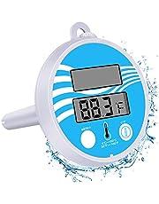 Bearbro Termómetro Digital con energía Solar,Termómetro Flotante para Piscina,Interiores y Exteriores Piscinas, spas, Jacuzzis, Acuarios y Peces estanques