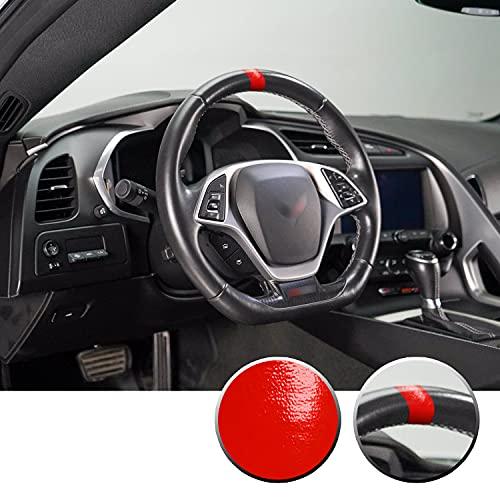 Optix Steering Wheel Stripe Overlay Pre Cut Graphic Vinyl Decal Compatible with Chevy Corvette C4 C5 C6 C7 C8 1984-2021 - Gloss Red
