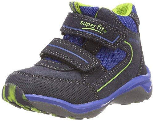 Superfit Jungen SPORT5 Hohe Sneaker, Blau (Blau 80), 34 EU