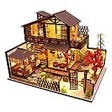 T TOOYFUL DIY Miniature Dollhouse Kit Meubles Artisanat avec La Chalet en Bois Maison de Poupée Assemblée Jouet