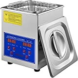 VEVOR Ultrasonic Cleaner 2L Digital Ultrasonic Parts Cleaner with Timer 40kHz Professional 304 Stainless Steel Ultrasonic Cleaner 110V for Jewelry Watch Glasses Diamond Eyeglass Small Parts Cleaning
