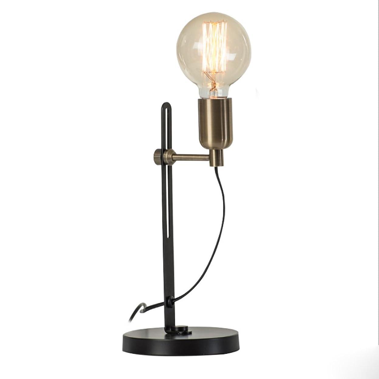 薄いです男やもめ関税Great St. 調節可能な高低低ベッドサイドランプ、シンプルな金属の読書灯、クリエイティブリビングルームのベッドルームの装飾レトロテーブルランプ (色 : ブロンズ)