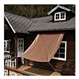 LJIANW Vela Ombreggiante Tenda da Sole, Fatto su Misura Rete Ombreggiante Balcone Protezione, con Gommini, Robusto, 80% di Blocco UV -180 gsm (Color : Brown, Size : 2x3m)