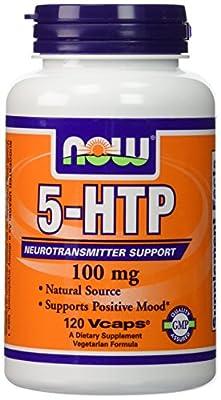 Now Foods, 5-HTP 100 mg Vegetarian, 240 Capsules (120 x 2 Pk)