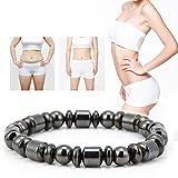 Magnetic Bracelets, Magnetic Bracelet, Unisex Stylish Weight Loss Black Stone Bracelet Health Care Magnetic Care Bracelet
