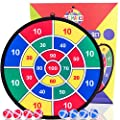 Kids Game Dart Board Set 8 Sticky Balls and 13.8 Inches (35cm) Dartboard - Safe Dart Game - Gift for Kids - Colorful Box Package