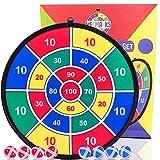YESMARKS Kids Game Dart Board Set 8 Sticky Balls and...