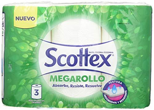 Scottex Megarollo packs de 3rouleux de papier de cuisine (6rouleaux au total)