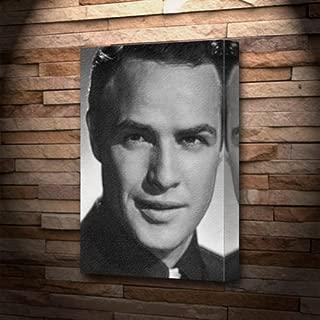 Seasons Marlon Brando - Canvas Print (A4 - Signed by The Artist) #js003