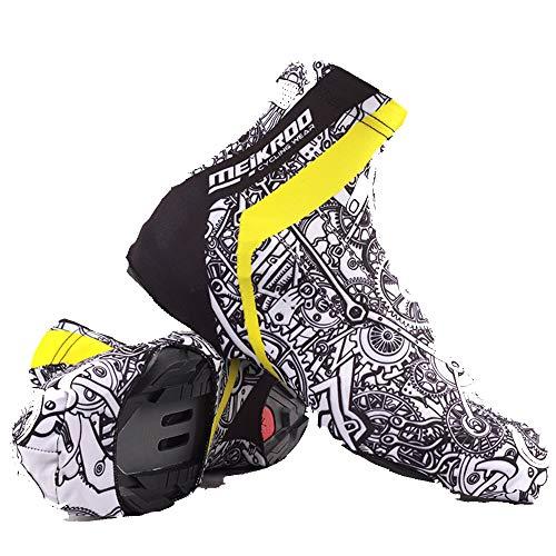 Cubrezapatillas de Ciclismo Zapato de ciclo de prueba de viento caliente Cubiertas Pies lluvia Bota de la nieve Protector polainas Bicicleta de ciclo impermeables Overshoes Impermeable a Prueba de Vie