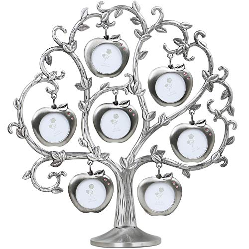 TRIXES Family Tree Photo Frame - Multi Picture Frame - Apple Tree with 7...